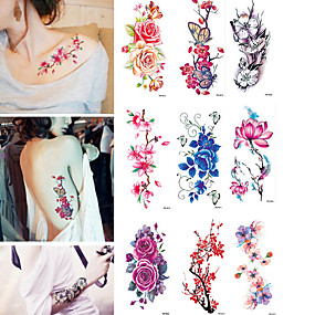 3d06f9a09 tattoo-sticker-body-arm-temporary-tattoos -9-pcs-flower-water-resistant-water-proof-body-arts-vacation-bikini