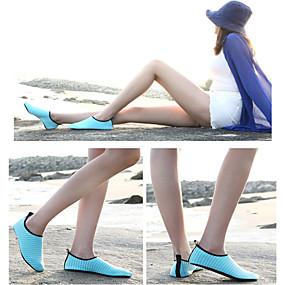 voordelige Wijdere maten schoenen-Dames Sportschoenen Platte hak Elastische stof Comfortabel Rivierschoenen Lente zomer Blauw / Roze / Lichtblauw / Gestreept  / EU40