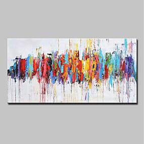 halpa Abstraktit maalaukset-Hang-Painted öljymaalaus Maalattu - Abstrakti Pop Art Moderni Ilman Inner Frame / Valssatut kankaat