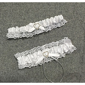billige Strømpebånd til bryllup-Blonder Bryllup / Blonde Bryllupsklær Med Sløyfe Strømpebånd Bryllup / Spesiell Leilighet