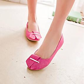 voordelige Damesschoenen met platte hak-Dames Platte schoenen Platte hak Ronde Teen PU Comfortabel Zomer Zwart / Beige / Fuchsia