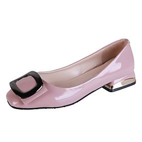 voordelige Damesschoenen met platte hak-Dames Platte schoenen Comfort schoenen Lage hak Vierkante Teen PU Herfst Blauw / Roze / Amandel