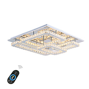 hesapli Gömme Montaj-Sıva Altı Monteli Ortam Işığı Krom Metal Kristal, LED 110-120V / 220-240V Sıcak Beyaz / Beyaz / Uzaktan Kumandayla Kısılabilir LED Işık Kaynağı Dahil / Birleştirilmiş LED
