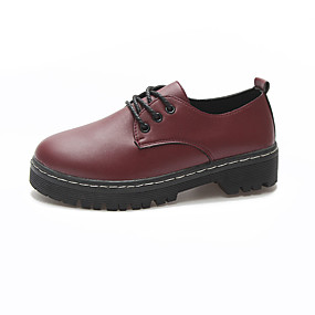 d1284e62e00 Women s PU(Polyurethane) Summer Comfort Oxfords Flat Heel Round Toe White    Black   Burgundy   Daily