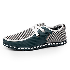 baratos Oxfords Masculinos-Homens Sapatos Confortáveis Couro Ecológico Primavera / Outono Formais Tênis Caminhada Preto / Verde / Azul / Combinação / Ao ar livre / Solas Claras