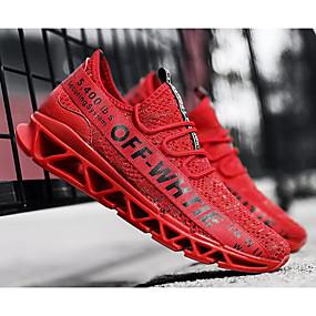 hesapli Erkek Atletik Ayakkabıları-Erkek Ayakkabı Örümcek Ağı İlkbahar & Kış Atletik Ayakkabılar Koşu Dış mekan için Beyaz / Siyah / Kırmzı