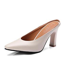 povoljno Ženske klompe i klompe na petu-Žene Klompe i natikače Udobne cipele Stiletto potpetica PU Proljeće Bež / Bijela / Zelen