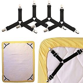 billige Lagring og oppbevaring-4 stk ark holder suspenders sofa dekselholder sengetøy slip holder klips suspenders skjorte braces elastisk