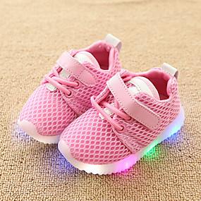 016f86971a0 Para Meninas Sapatos Com Transparência Primavera   Outono Conforto   Tênis  com LED Tênis Colchete   LED para Infantil   Bébé Branco   Preto   Rosa  claro ...