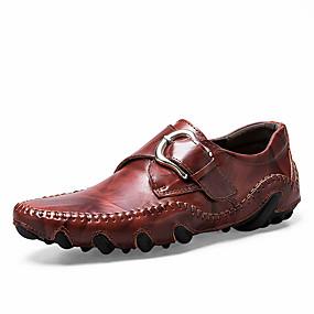 baratos Sapatilhas e Mocassins Masculinos-Homens Sapatos Confortáveis Couro / Sintéticos Primavera Verão Mocassins e Slip-Ons Preto / Amarelo / Marron