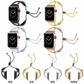 baratos Liquidação-Pulseiras de Relógio para Apple Watch Series 4/3/2/1 Apple Pulseira Esportiva / Fecho Clássico Aço Inoxidável Tira de Pulso