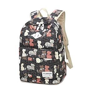 cheap Intermediate School Bags-Women's Bags Canvas School Bag Pattern / Print Animal Blushing Pink / Gray / Sky Blue