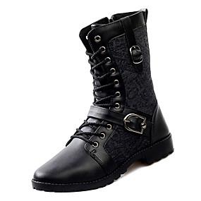 baratos Botas Masculinas-Homens Coturnos Jeans Inverno Casual Botas Manter Quente Botas Cano Médio Preto