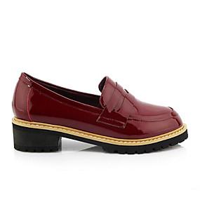 59f6c9f3bba Women s Comfort Shoes Nappa Leather Spring Loafers   Slip-Ons Low Heel  Closed Toe Tassel Black   Orange   Wine