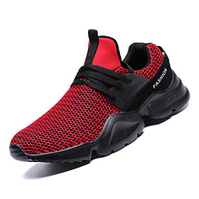 53bb2e86f978 Nike Style Men s Comfort Shoes Mesh Fall Casual Athletic Shoes Walking Shoes  Breathable Black   Gray   Red