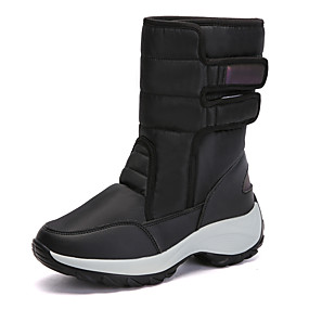 voordelige Damessneakers-Dames Sneakers Creepers Ronde Teen Polyester Informeel Wandelen Winter Zwart / Blauw / Roze
