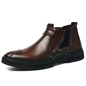7cd220f70 Hombre Zapatos Confort Cuero Otoño invierno Clásico Botas Botines   Hasta  el Tobillo Negro   Marrón