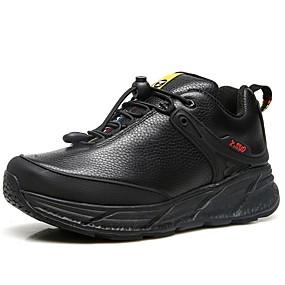 voordelige Wandelen Winkel-Heren Comfort schoenen Nappaleer Herfst Sportief / Vintage Sportschoenen Trektochten Water Proof Zwart / Bruin
