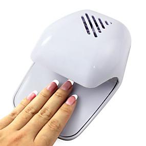 voordelige Nageldrogers & Lampen-Elektrische Wind Automatic Pressure activeert Nagellakdroger White Tip Fan (Werkt op 2 AA-batterijen)
