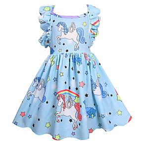 povoljno Prepare-se Para o Carnaval-Djeca Djevojčice Aktivan Jednobojni Geometrijski oblici Bez rukávů Haljina Blushing Pink