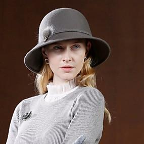 povoljno Kentucky Derby Hat-100% vuna Kentucky Derby Hat / kape s Pom-pom 1pc Kauzalni / Dnevni Nosite Glava