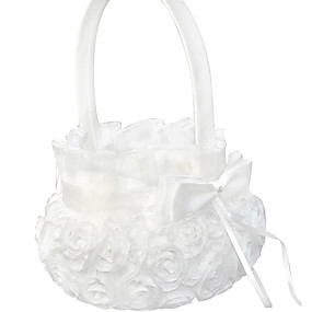 """cheap Gifts & Decorations-Flower Basket Polyester 4 1/3"""" (11 cm) Floral 1 pcs"""