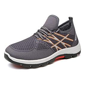 baratos Tênis Masculino-Homens Sapatos Confortáveis Tecido elástico Inverno Tênis Manter Quente Cinzento / Vermelho / Azul