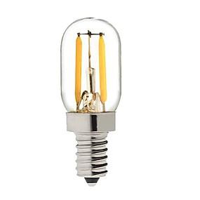 billige Globepærer med LED-KWB 1 W 150-200 lm E14 LED-globepærer S14 2 LED perler COB Mulighet for demping Varm hvit 220-240 V / 1 stk. / RoHs