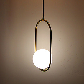 abordables Plafonniers-Circulaire / Mini Lampe suspendue Lumière d'ambiance Laiton Antique Plaqué Métal Verre Protection des Yeux 110-120V / 220-240V