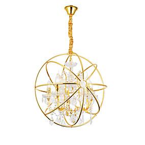 abordables Plafonniers-ZHISHU 5 lumières Globe / Lanterne Lampe suspendue Lumière dirigée vers le haut Plaqué Métal Créatif 110-120V / 220-240V