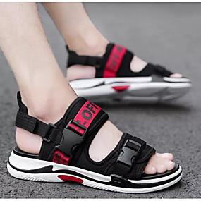 baratos Sandálias Masculinas-Homens Sapatos Confortáveis Jeans Verão Sandálias Preto / Preto / Vermelho / Preto / Amarelo / Ao ar livre