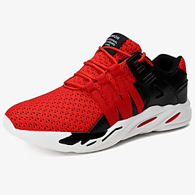 cheap Running Shoes-Men's Comfort Shoes Knit / Mesh Spring &  Fall Sporty / Casual Athletic Shoes Running Shoes / Hiking Shoes Massage White / Black / Red