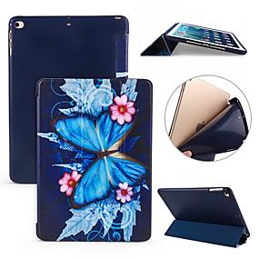abordables Funda de ipad-Funda Para Apple iPad (2018) / iPad Pro 11'' Antigolpes / Flip / Ultrafina Funda de Cuerpo Entero Mariposa Suave Silicona para iPad Air / iPad 4/3/2 / iPad Mini 3/2/1