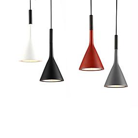 billige Hengelamper-Ecolight™ Cone / geometriske / Mini Anheng Lys Omgivelseslys eloksert Aluminum Harpiks Mini Stil, Kreativ, Justerbar 110-120V / 220-240V Varm Hvit / Hvit