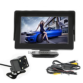 povoljno Stražnja kamera za auto-renepai® 4,3 inčni monitor + bežične 170 ° HD stražnji pogled automobila kamera + HD širokokutni vodootporne CMOS kamera