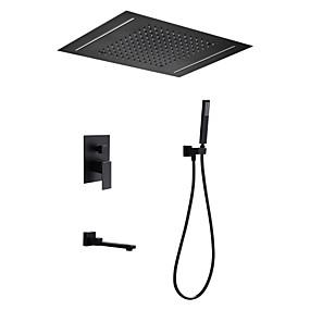 povoljno Poboljšanje uvjeta stanovanja-Slavina za tuš - Suvremena Slikano završi Sustav za tuširanje Keramičke ventila Bath Shower Mixer Taps / Brass