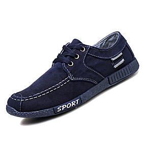 baratos Tênis Masculino-Homens Sapatos Confortáveis Lona / Jeans Inverno Casual Tênis Não escorregar Azul Escuro / Cinzento