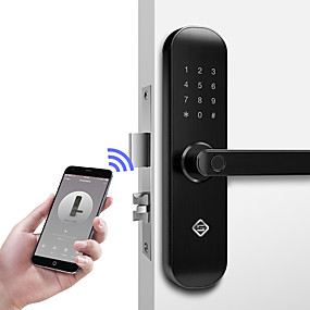 hesapli Kapı kilidi-PINEWORLD Q202 Alüminyum alaşımı Kilit / Şifre Kilidi / Parola Parmak İzi Kilidi Akıllı Ev Güvenliği iOS / Android sistem Ses ayarlanabilir / Parmak izinin kilidini aç / Şifre kilidini aç Kullananlar