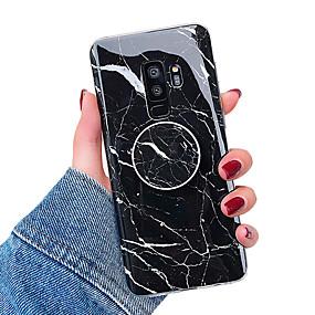 hesapli Cep Telefonu Kılıfları-Pouzdro Uyumluluk Samsung Galaxy S9 / S9 Plus / S8 Plus Satandlı / IMD Arka Kapak Mermer Yumuşak TPU