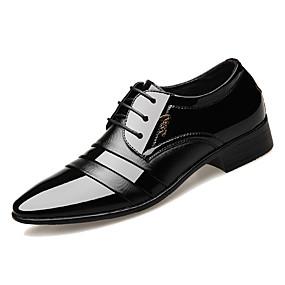 Χαμηλού Κόστους Αντρικά Oxford-Ανδρικά Παπούτσια άνεσης PU Άνοιξη & Χειμώνας Δουλειά Oxfords Μη ολίσθηση Μαύρο