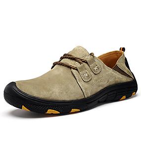 baratos Sapatos Esportivos Masculinos-Homens Sapatos Confortáveis Couro de Porco Verão Esportivo Tênis Caminhada Respirável Vinho / Cinzento / Khaki / Atlético