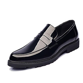 cheap Men's Slip-ons & Loafers-Men's Formal Shoes Patent Leather Spring &  Fall Loafers & Slip-Ons Black / Office & Career