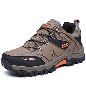 baratos Sapatos Esportivos Masculinos-Homens Sapatos Confortáveis Couro Outono & inverno Tênis Aventura Verde Tropa / Cinzento / Khaki