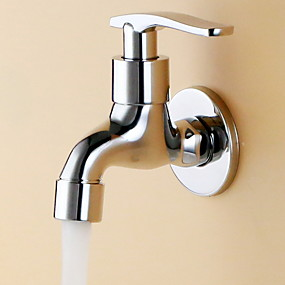 cheap Faucet Accessories-Bathroom Sink Faucet - Widespread Electroplated Other Single Handle One HoleBath Taps