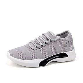 baratos Sapatos Esportivos Masculinos-Homens Sapatos Confortáveis Tissage Volant Primavera Tênis Caminhada Preto / Branco / Cinzento