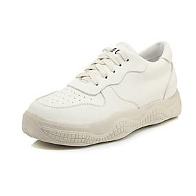 baratos Sapatos Esportivos Femininos-Mulheres Couro Ecológico Primavera & Outono Casual / Colegial Tênis Caminhada Plataforma Ponta Redonda Preto / Bege