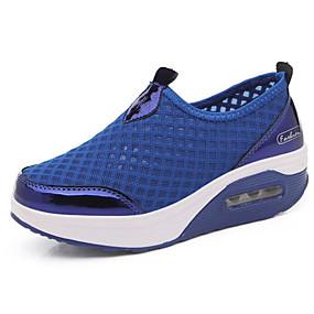baratos Sapatos Esportivos Femininos-Mulheres Com Transparência Verão Tênis Sapatos para Swing Creepers Cinzento / Rosa claro / Azul Real