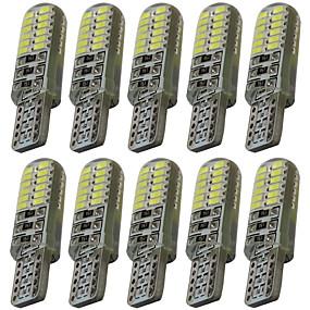 Недорогие Боковые габаритные огни-10 шт. T10 Автомобиль Лампы 2 W SMD 3014 60-100 lm 24 Светодиодная лампа Подсветка для номерного знака / Задний свет / Боковые габаритные огни Назначение