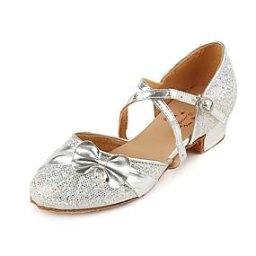 billige Moderne sko-Jente Moderne sko PU Høye hæler Tykk hæl Dansesko Sølv / Fuksia / Rosa