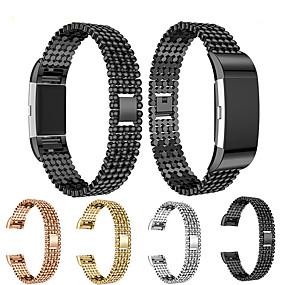 halpa Smartwatch-nauhat-Watch Band varten Fitbit Charge 2 Fitbit Korudesign Teräs / Ruostumaton teräs Rannehihna